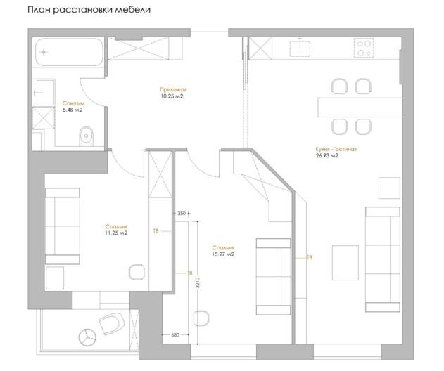 фото планировки трехкомнатной квартиры