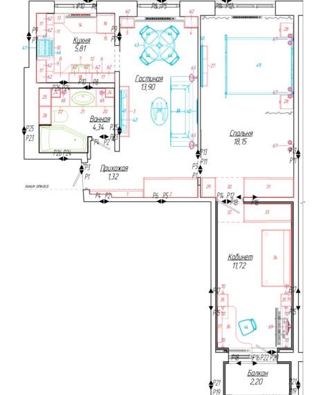 планировка 3 комнатной квартиры 60 кв м