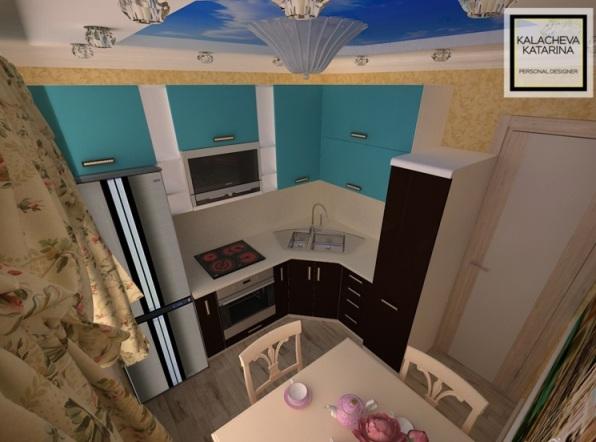 Дизайн кухни на 25 кв.м