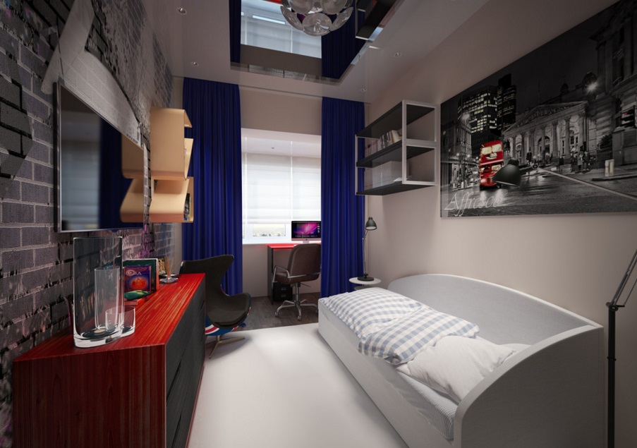 Ремонт спальни в маленькой квартире 4