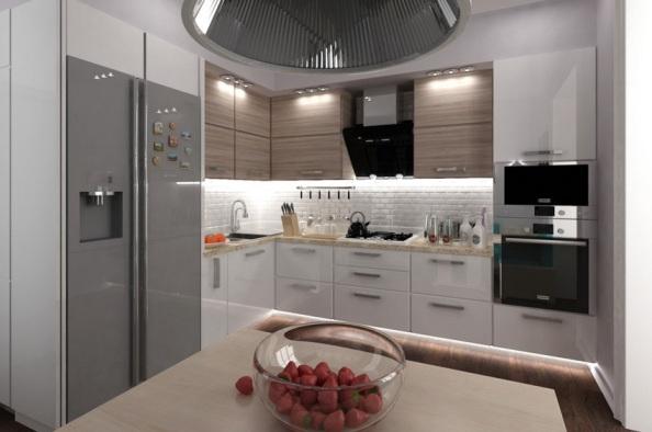 Кухни с встроенной техникой дизайн фото