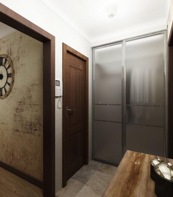 Интерьер прихожей с встроенным шкафом