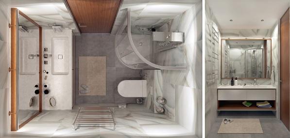 как обставить маленькую ванную комнату