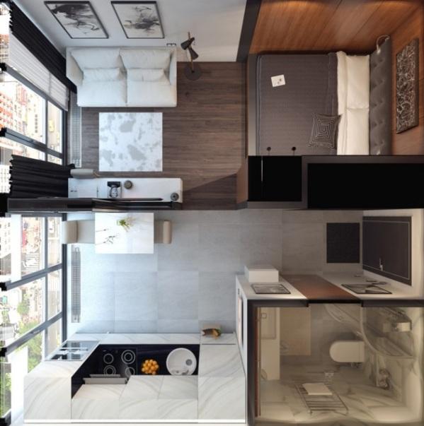 как обставить однокомнатную квартиру мебелью фото