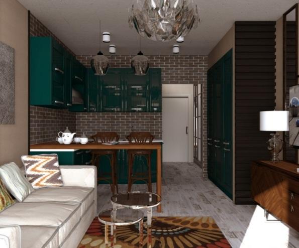 Дизайн интерьера квартиры: маленькая квартира 40 кв.м