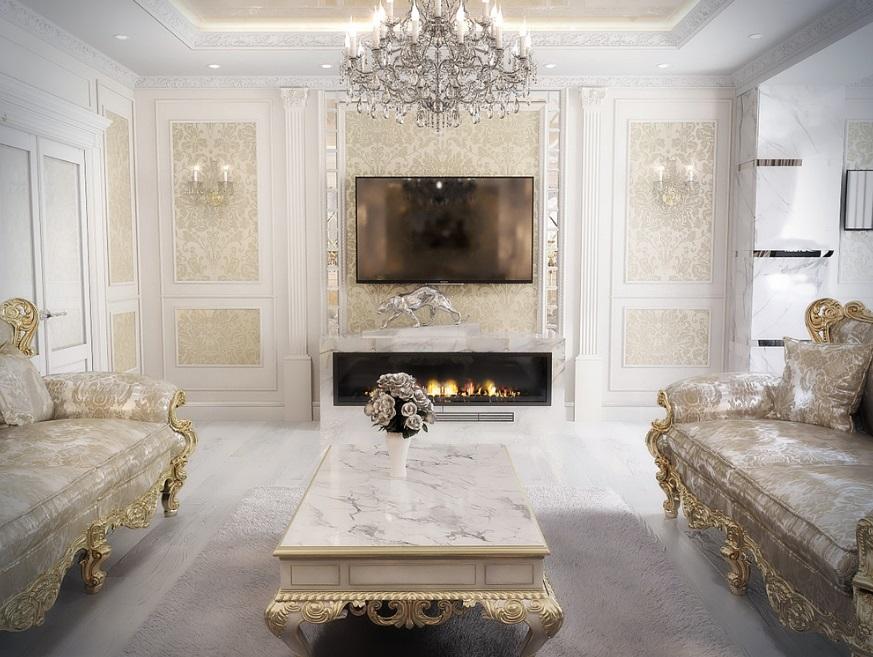 f594550b8110 Интерьер квартиры в классическом стиле – презентабельность и ...